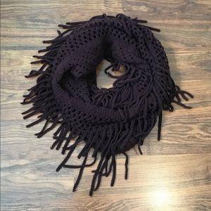 Dark purple infinity scarf